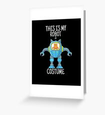 For Today I Am A Robot Engineer I Build Robots Science Cat Greeting Card