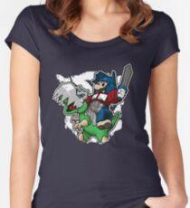 Optimus Mario Camiseta entallada de cuello redondo