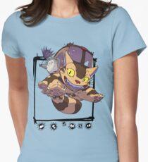 Totoro y Nekobus happy trip Camiseta entallada para mujer