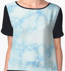 Sky Blue Marble Women's Chiffon Top