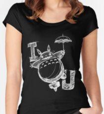 I Love Totoro and I love you too Camiseta entallada de cuello redondo