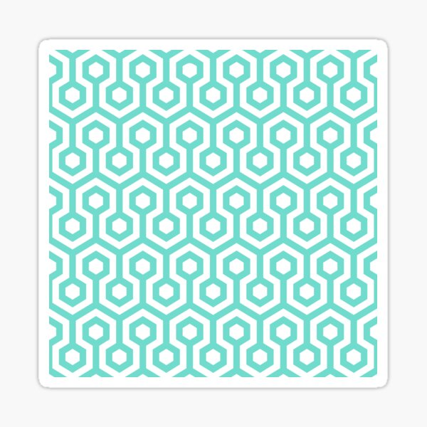 Geometric Pattern: Looped Hexagons: Blue Sticker