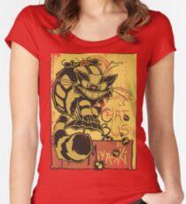 Nekobus, le Chat Noir cartel Camiseta entallada de cuello redondo