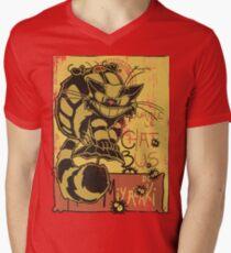 Nekobus, le Chat Noir cartel Camiseta de cuello en V