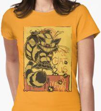 Nekobus, le Chat Noir cartel Camiseta entallada para mujer
