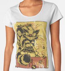 Nekobus, le Chat Noir cartel Camiseta premium de cuello ancho