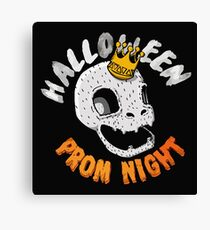 Halloween Prom Night Funny Party Canvas Print