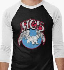 Camiseta ¾ estilo béisbol Pantera blanca (angustiada)