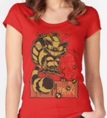 Nekobus, le Chat Noir Camiseta entallada de cuello redondo