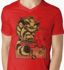 Nekobus, le Chat Noir Camiseta de cuello en V