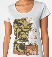 Nekobus, le Chat Noir Camiseta premium para mujer