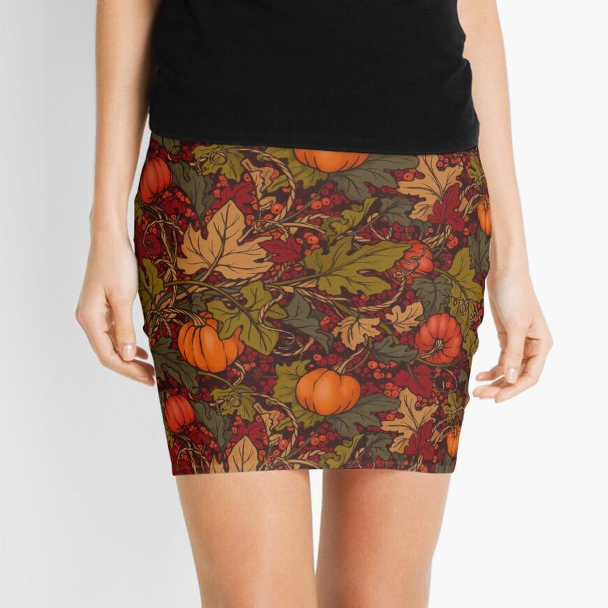 Autumn Pumpkins Mini Skirt
