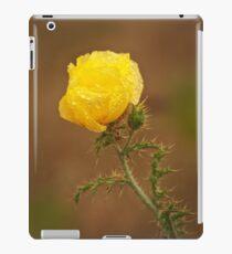 Yellow Prickly Poppy iPad Case/Skin