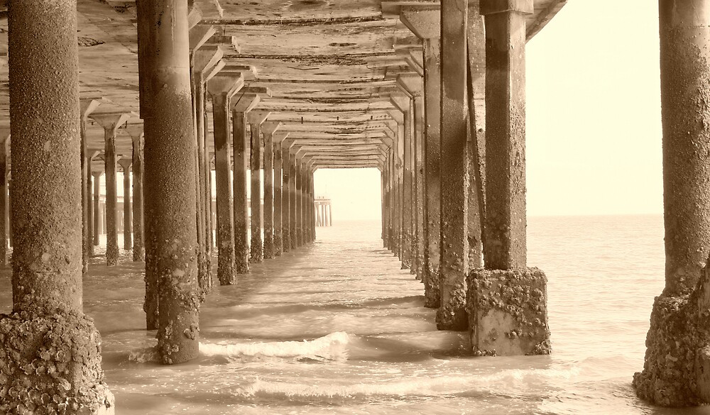 Under the pier by Justine McCreith