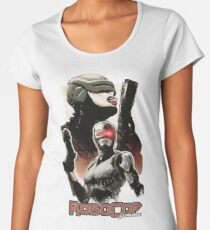 Femme Cop Camiseta premium de cuello ancho