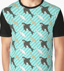 Arctic Whales - Orcas, Belugas and Narwhals Graphic T-Shirt