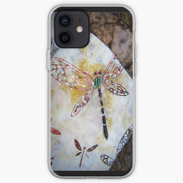 BEADED DRAGONFLY QUILT DETAIL iPhone Soft Case