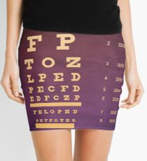 Custom Eye Chart Mini Skirt