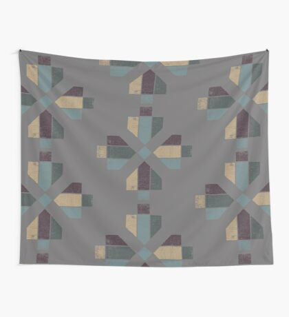 Western Tribal in Earth Tones Abstract Wall Tapestry