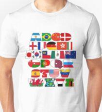 I love world, flags alphabet T-Shirt