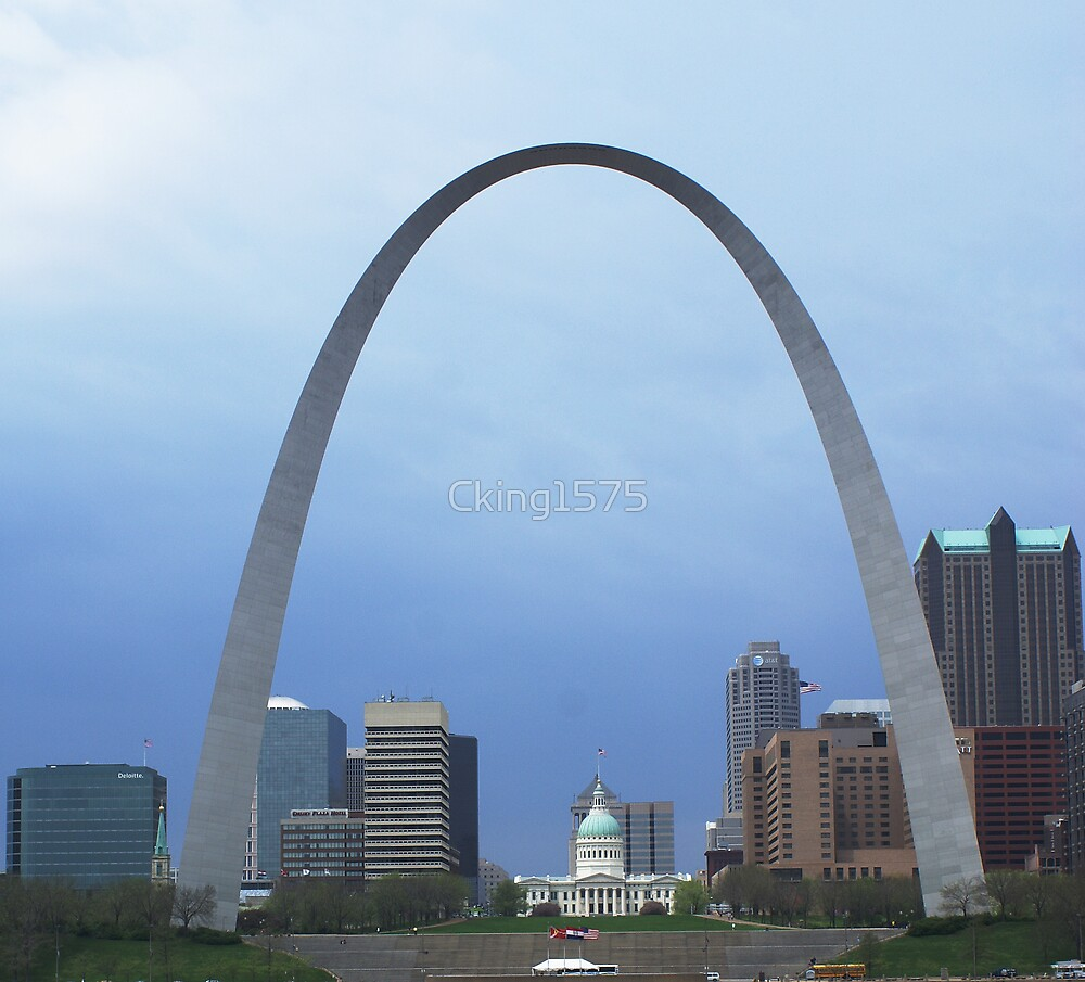 St Louis Cityscape in Color by Cking1575