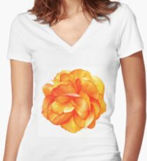 Bright Begonia - Watercolour Markers Women's Fitted V-Neck T-Shirt