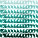 Teepee Gradient Green  by caligrafica