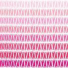 Teepee Gradient Pink  by caligrafica