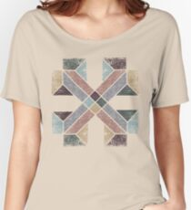Western Tribal with Earth Tones Abstract Women's Relaxed Fit T-Shirt