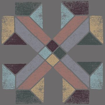 Western Tribal with Earth Tones Abstract by ddtk