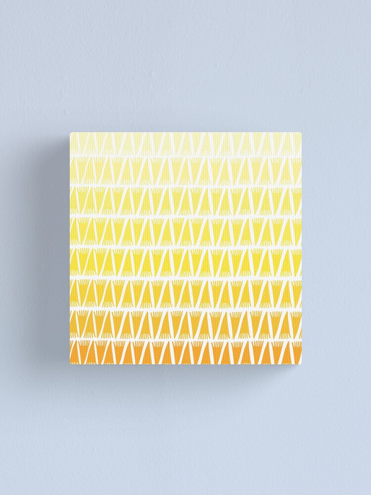 Alternate view of Teepee Gradient Yellow  Canvas Print