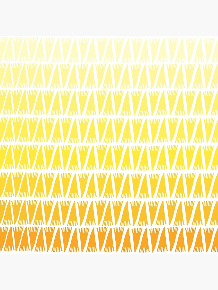 Teepee Gradient Yellow  by caligrafica