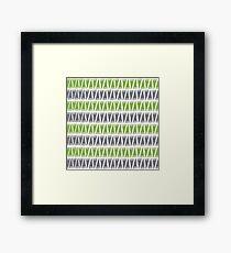 Teepee Greenery  Framed Print