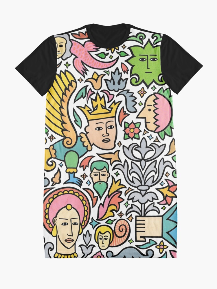 Alternate view of A king for a day Graphic T-Shirt Dress