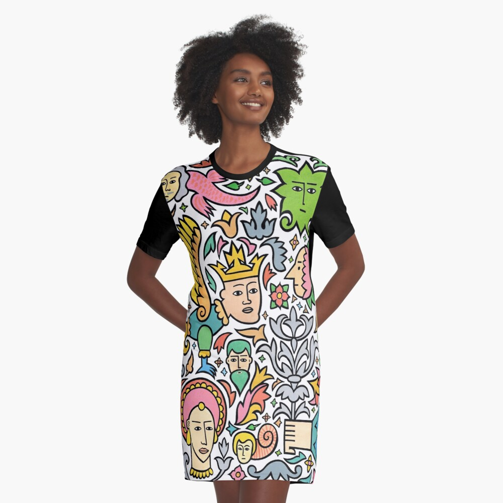 A king for a day Graphic T-Shirt Dress