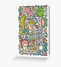 A king for a day Greeting Card