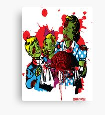 Zombie Family T Shirt by Zombie House Canvas Print