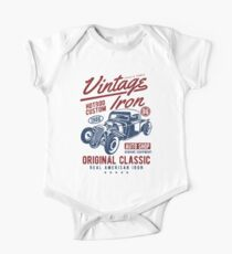 Hot Rod Car Retro Vintage Kids Clothes