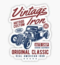 Hot Rod Car Retro Vintage Sticker