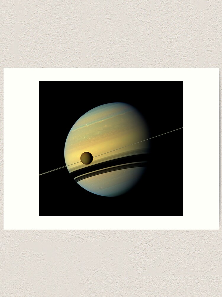 """Picture Art Space Universe Galaxy Earth Moon 12"""" x 12"""" Planet Saturn Poster"""