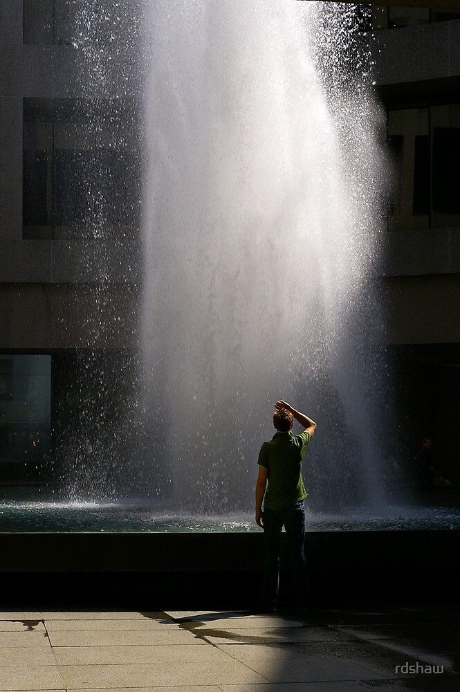 Man at the Fountain by rdshaw