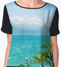 Lembongan tropical island, one of popular attractions in Bali, Indonesia Chiffon Top