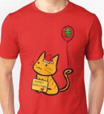 Merry Christmas Manga Cat T-Shirt