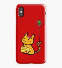Merry Christmas Manga Cat iPhone Case/Skin
