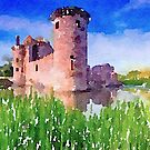 Caerlaverock Castle, Scotland by David Alexander Elder