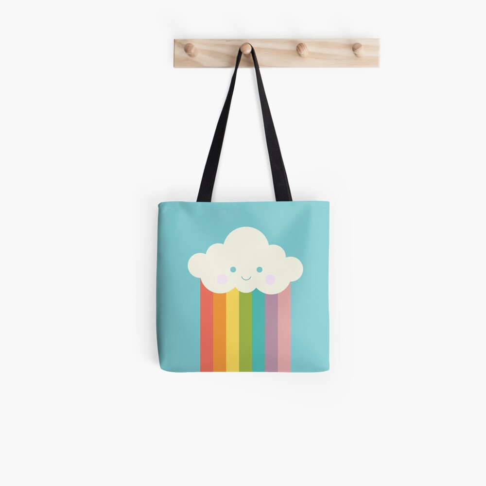 Stolze Regenbogenwolke Tote Bag