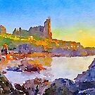 Dunure Castle Scotland by David Alexander Elder