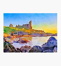 Dunure Castle Scotland Photographic Print