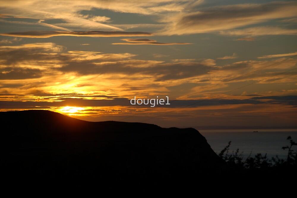 Sunset over Skinningrove by dougie1