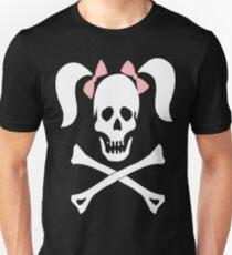Skull Crossbones Pigtails Unisex T-Shirt